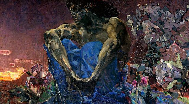 Демон сидящий. 1890, Государственная Третьяковская галерея