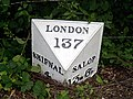 Milestone, Holyhead Road, Oakengates - geograph.org.uk - 1147462.jpg