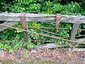 Mill Road level crossing gate detail, Kilbirnie.JPG