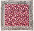 Millefleur 'Star-Lattice' carpet, 17th-early 18th century Mughal India, Christie's.jpg