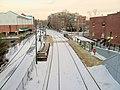 Milton station from Adams Street, January 2016.JPG