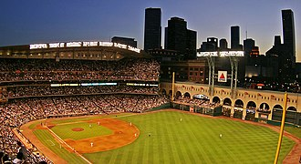 Minute Maid Park - The ballpark in 2006, with a view of downtown Houston in the background
