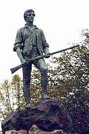 Statue depicting John Parker, captain of the Lexington militia