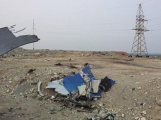 2009 Yakutia Ilyushin Il-76 crash - Image: Mirny plane crash 08