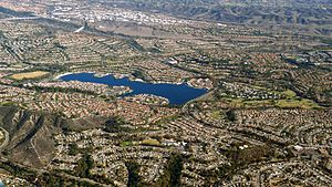 Mission Viejo, California - Aerial view of Lake Mission Viejo and the surrounding developments (2014)
