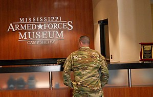 Mississippi Armed Forces Museum - Image: Mississippi Armed Forces Museum Sign in Area
