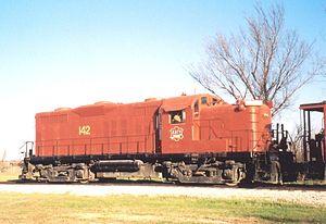 Midland Railway (Kansas) - Image: Missouri Kansas Texas locomotive 142