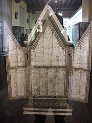 Mnma, bottega degli embriachi, trittico, inizio XV secolo