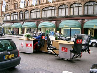 Mobile office - Mobile Office on the Streets of London.
