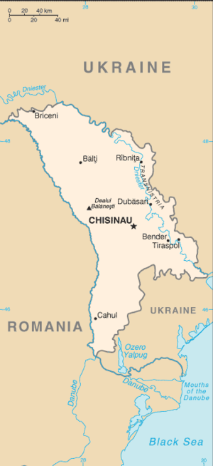 Outline of Moldova - An enlargeable basic map of Moldova