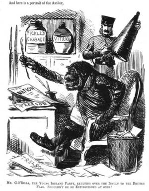 Anti-Irish sentiment - An Irishman depicted as a gorilla