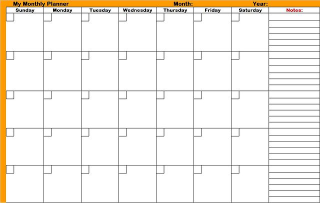 Monthly Planner Printable. Monthly. Diy Home Plans Database