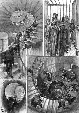 Monument to the Great Fire of London - Views published in The Graphic, 1891.