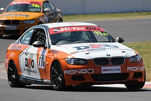 2016 Hi-Tec Oils Bathurst 6 Hour - The race and Class B1-winning BMW 335i E92 of Nathan Morcom and Chaz Mostert.