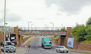 Morris Cowley railway station - Near station site in 2004.