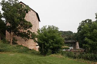 Motor Mill Historic District NRHP district near Elkader, Iowa USA