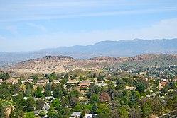Mount Clef Ridge vu de Tarantula Hill, Thousand Oaks