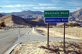 California State Route 178 - Image: Mountain Mesa California along SR178