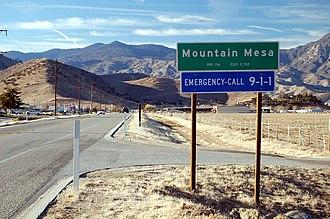 California State Route 178 - Image: Mountain Mesa California along SR178