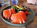 Mozzarella and tomato with mixed salad.jpg