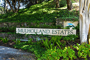 Mulholland Estates - Mulholland Estates sign.