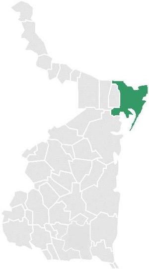 Matamoros Municipality, Tamaulipas - Matamoros within Tamaulipas.