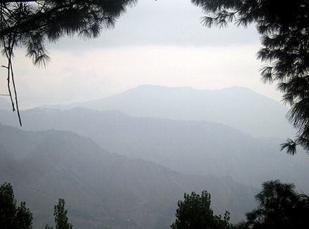 Murree's hills, seen from Bhurban. - Murree