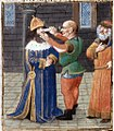 Mutilation of Justinian II - Giovanni Boccaccio, translated by Laurent de Premierfait (cropped).jpg