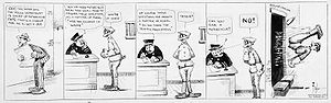 Daily strip from 1913 from Mutt and Jeff by Bud Fisher
