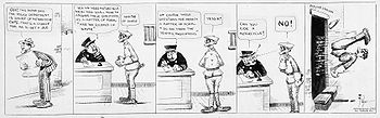 "Mutt and Jeff comic strip. ""Five-frame co..."