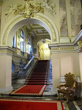Cotroceni Palace - Staircase at the Cotroceni National Museum