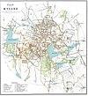 100px mysore city gazetteer map 1897