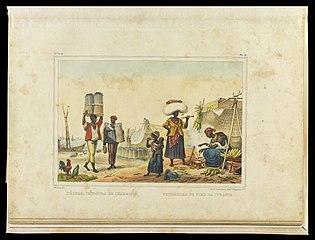 Négres, vendeurs de charbon ; Vendeuses de pled de Turquie