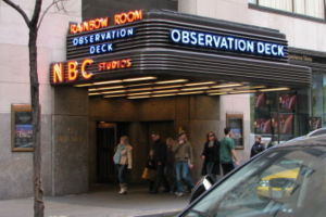 Flagship (broadcasting) - Entrance to GE Building, New York City, home of WNBC, the flagship station of NBC