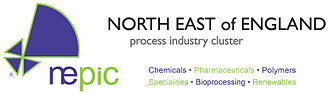 North East of England Process Industry Cluster - NEPIC logo and sectors