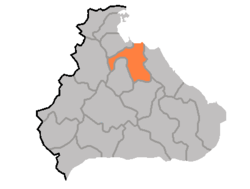 Location of Anbyŏn County