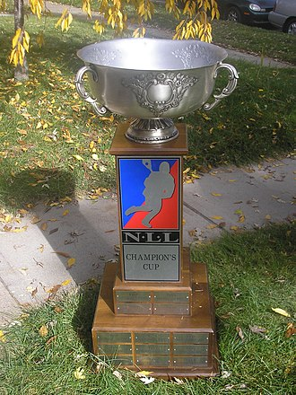 Champion's Cup - The NLL Champion's Cup, photographed in 2006 after the winning season of the Colorado Mammoth.