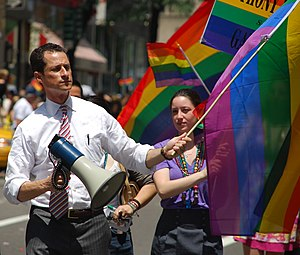 Anthony Weiner - Weiner showing his support at a NYC gay parade (2009)