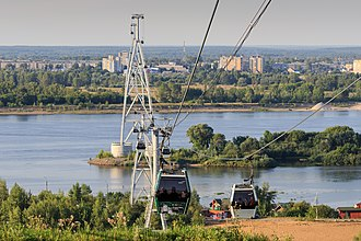 Nizhny Novgorod Cableway - Image: NN Bor Volga Cableway 08 2016 img 10