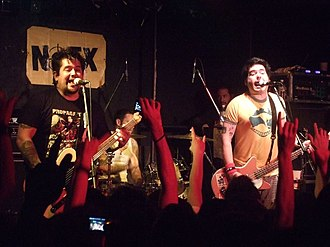 "NOFX - NOFX performing at ""The Wall"" in Taipei, Taiwan."
