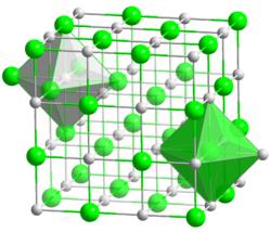 Krystalová mřížka kubické modifikace oxidu barnatého
