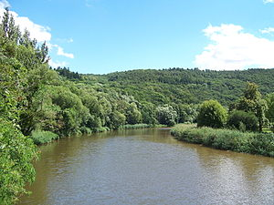 Nahe river in Bad Kreuznach