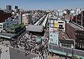 Nakamise, Asakusa, Tokyo as seen from the Asakusa Culture Tourist Information Center 20190420 3.jpg