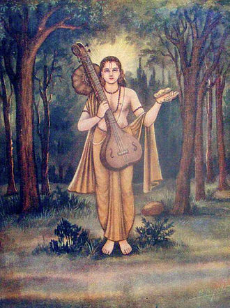 Tala (music) - A painting depicting the Vedic sage-musician Narada, with a tala instrument in his left hand.