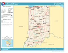 Indiana Wikipedia - Indiana in us map