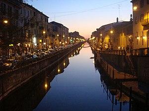 Navigli - Naviglio Grande at dusk