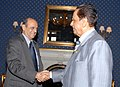 Navin B. Chawla with the President of the Republic of Mauritius, Sir Anerood Jugnauth, during his four days official visit to observe the conduct of poll for the election of members of National Assembly of Mauritius.jpg