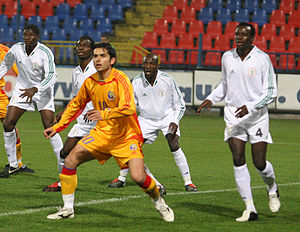 Nicolae Dică - Dică playing against the Nigeria national team