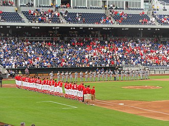 Nebraska Cornhuskers baseball - Nebraska vs. Creighton at TD Ameritrade Park on April 19, 2011