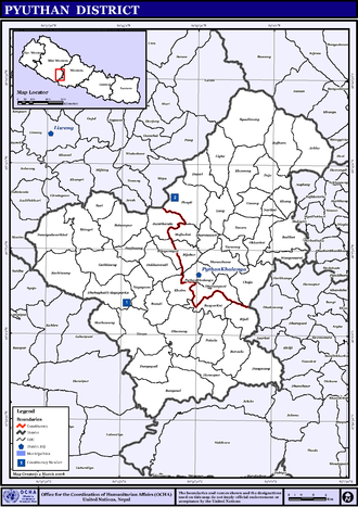 Pyuthan District - VDCs in Pyuthan